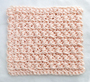 Crossed Single Crochet Washcloth