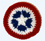 Patriotic Coaster or Banner Motif