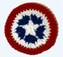 Patriotic Coaster or Banner Motif