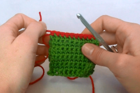 If there are not any stitches to work into (like side rows of pieces) just work them as evenly across as you can.
