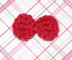 bow applique crochet pattern