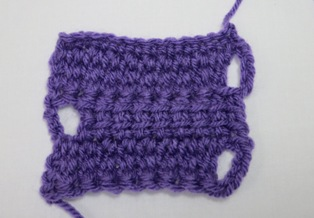 I present: linked treble crochet.