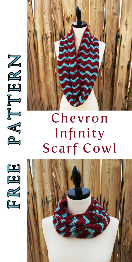 Chevron Infinity Scarf Cowl Knit And Crochet Ever After