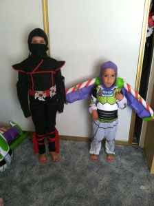 She was even a ninja  last Halloween.