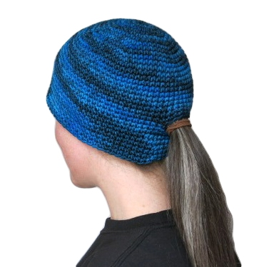 Wear a ponytail and a beanie at the same time!