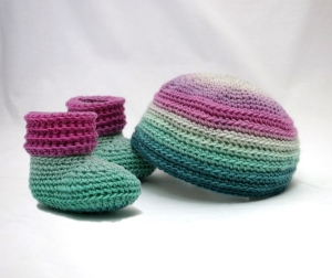 Sweet Baby Beanie and Booties Gift Set