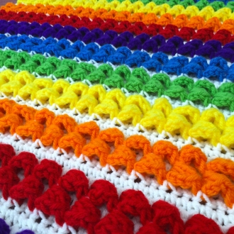 Rainbow Baby Blanket Free Crochet Pattern Download