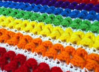 Rainbow Baby Blanket Free Crochet Pattern Download