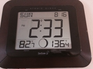 Granted the outdoor thermometer was in direct sunlight, but right before in the shade it was at 118.