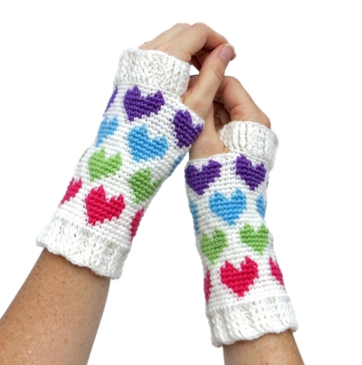 Hearts Abound Mitts