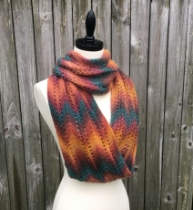 Autumn Infinity Scarf Knit Pattern