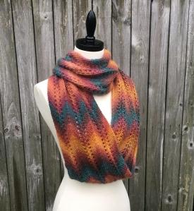 Autumn Infinity Scarf Knit Pattern