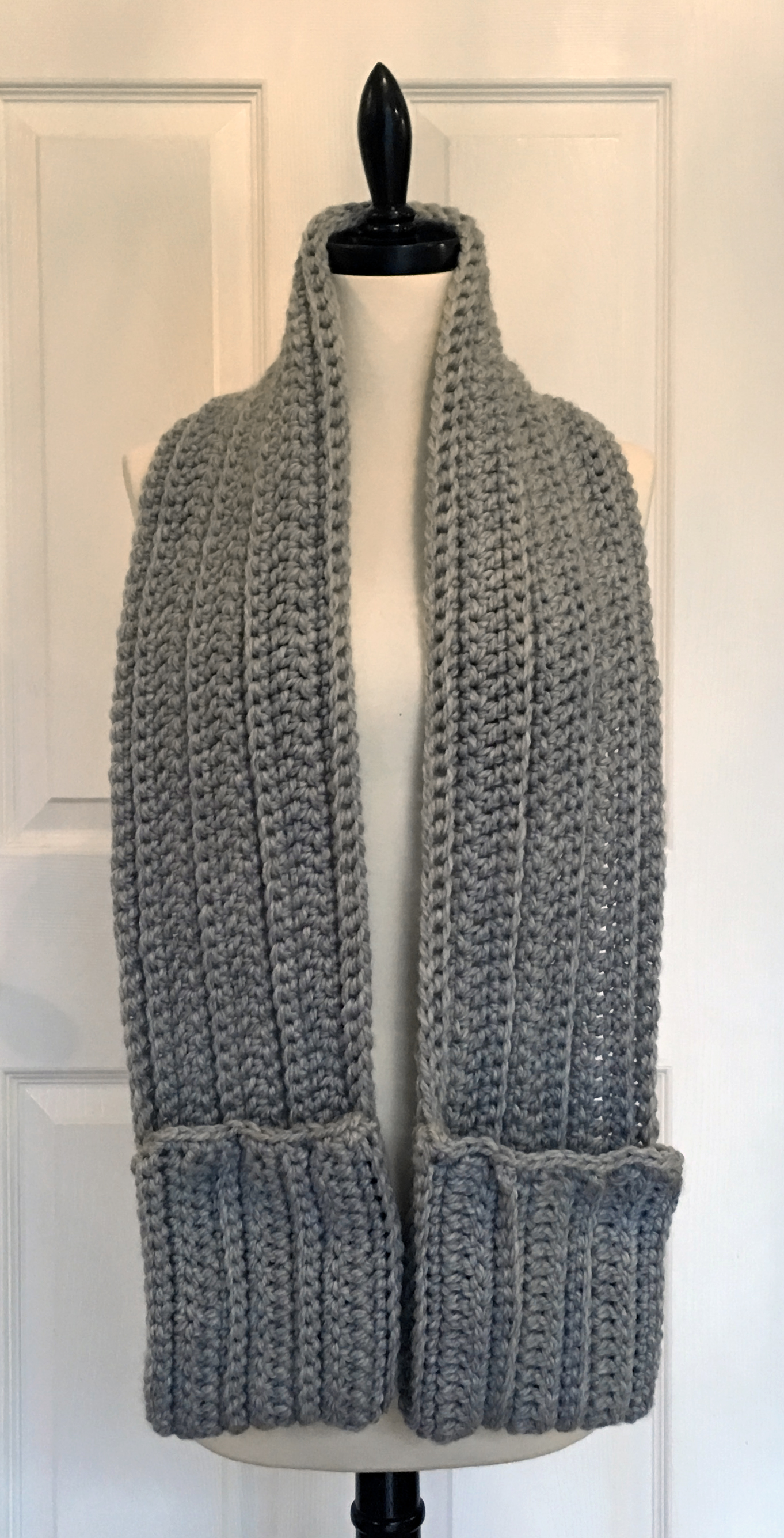 Free Pocket Super Scarf Pattern And Video Tutorial Knit And