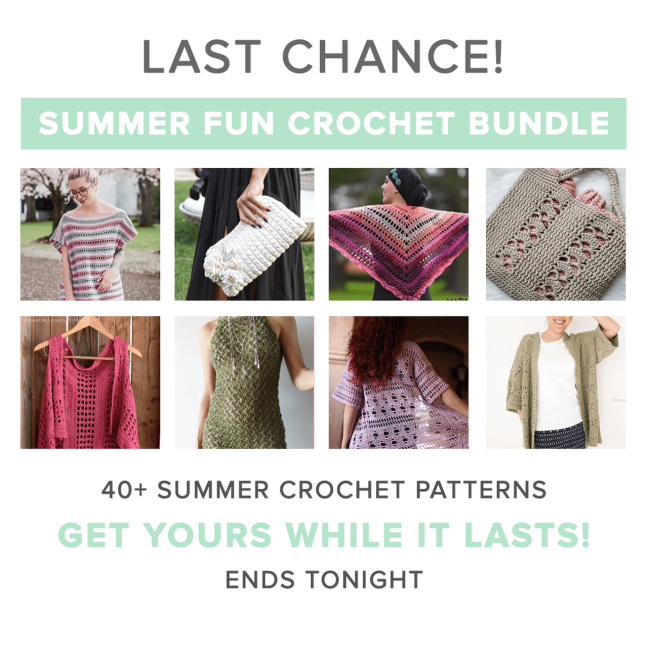 Knit and crochet ever after knit and crochet designs and tutorials today is the absolute last day that youll ever be able to purchase the summer fun crochet bundle it closes tonight at 1159pm pst fandeluxe Images